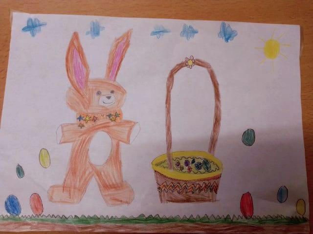 dessin lapin de pâques