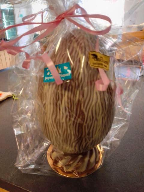photo oeuf en chocolat Pâques